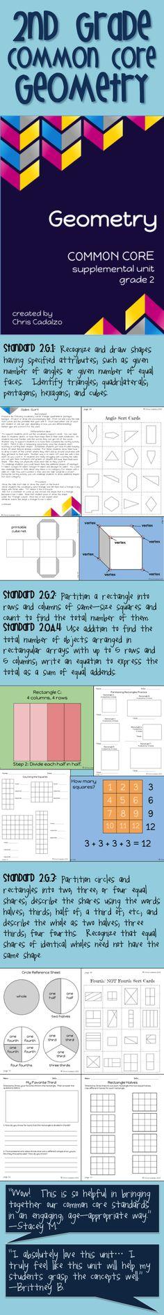 2nd Grade Common Core Geometry Unit. Second Grade Common Core Math ...