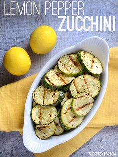 Bright and peppery, these Lemon Pepper Zucchini medallions are a lively yet simple side dish. A flavorful way to use up that zucchini bumper crop!