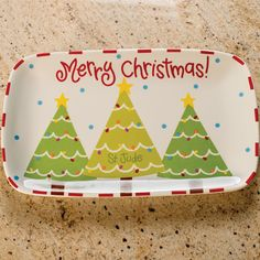 Fill this Ceramic Platter, Christmas Tree-Patient Art Inspired from St. Jude with homemade goodies & benefit a charity at the same time!