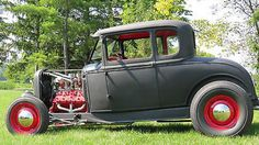 Ford : Model A Traditional Hot Rod 1930 Model A Coupe - Traditional Hot Rod on 1932 frame - http://www.legendaryfind.com/carsforsale/ford-model-a-traditional-hot-rod-1930-model-a-coupe-traditional-hot-rod-on-1932-frame-2/