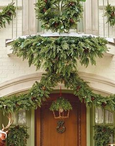 Vibrant faux green berries and delicate eucalyptus leaves enhance the lush realism of the Majestic Holiday Outdoor Cordless 6 ft. Mantel/Door Swag. This stunning arrangement perfectly captures the rich tones and textures of spruce, eucalyptus, juniper greenery, green berries and lifelike pine cones. It's nearly indistinguishable from fresh-cut foliage, yet its beauty will last for seasons to come.