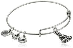 Alex and Ani Bangle Bar Buddha Rafaelian Silver Finish Expandable Wire Bangle Bracelet -- Check out the image by visiting the link.