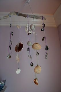 Pink and Green Mama: Kid's Craft: Sea Shell Mobiles