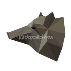 Abstract polygonal geometric triangle wild boar head isolated on white…