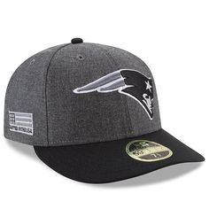 innovative design fc7be 6dfeb New England Patriots New Era Crafted in the USA Low Profile 59FIFTY Fitted  Hat – Heather Gray Black
