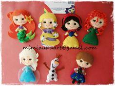 Broche de princesa, princess brooch, pin, Ariel, Rapunzel, Blancanieves, Mérida, Elsa, Anna, Pocahontas, Olaf, Bella