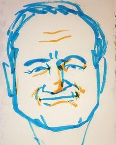 いいね!13件、コメント1件 ― @1mindrawのInstagramアカウント: 「#1mindraw #robinwilliams #ロビンウィリアムズ #19510721 #birthday #誕生日 #portrait #筆ペン画」