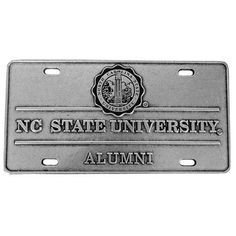 NC State Wolfpack Alumni Seal Pewter License Plate