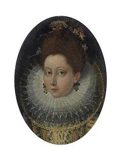 North Italian School, late 16th Century Portrait of a lady, traditionally identified as Catherine Henriette de Balzac d'Entragues, Marquise de Vernueil,