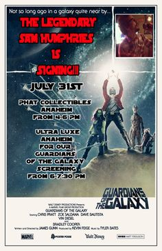 Phat Collectibles to Host Sam Humphries Signing and Guardian of the Galaxy Screening July 31