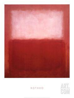 White over Red Art Print by Mark Rothko at Art.com