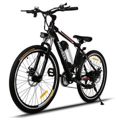 Ancheer Electric Mountain Bike with Removable Lithium-Ion Battery and Batte. - Ancheer Electric Mountain Bike with Removable Lithium-Ion Battery and Battery Charger - E Mountain Bike, Folding Mountain Bike, Mountain Bike Reviews, Electric Mountain Bike, Electric Cycle, Best Electric Bikes, Bike Electric, Commuter Bike, Bicycle Maintenance