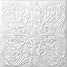 Styrofoam Ceiling Tiles that you can glue onto your ceiling for added character!!!  How cool!!
