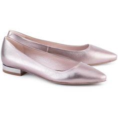 GINO ROSSI Lanza - Женские Серебристые Кожаные Балетки - DAG878-Q47-YX00-4400-0 - Обувь Женщины Балетки | Mivoshoes
