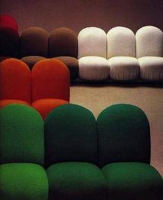 'Blubub' Sofa System, coloor sillon curvo modulo R Funky Furniture, Design Furniture, Sofa Furniture, Sofa Design, Vintage Furniture, System Furniture, Bespoke Furniture, Pierre Paulin, Soft Seating