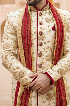 Exquisite All Over Embroidered Sherwani - Designer Wedding Sherwani for Men - Manyavar Sherwani For Men Wedding, Wedding Dresses Men Indian, Wedding Outfits For Groom, Wedding Dress Men, Wedding Dresses For Girls, Indian Wedding Couple Photography, Wedding Couple Poses, Manyavar Sherwani, Indian Groom Dress