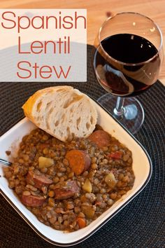 This is a lentil stew recipe I learned in Spain. The onions, garlic, and incredible smoked paprika will delight your senses and please your guests. Spanish Cuisine, Spanish Soup, Spanish Dishes, Spanish Meals, Spanish Rice, Lentil Stew, Lentil Dishes, Spanish Lentils Recipe, Spanish Chorizo Recipes
