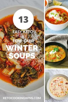 13 Unique and Tasty Keto Soups and Chowders - Keto Cooking Wins Seafood Soup Recipes, Salad Recipes Low Carb, Chowder Recipes, Lunch Recipes, Keto Recipes, Dinner Recipes, Cozy Meals, Keto Taco, Low Carb Side Dishes