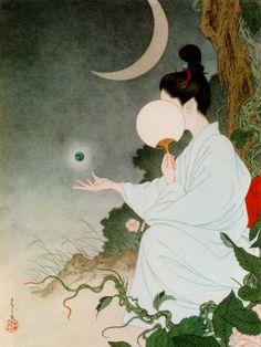 "taf-art: ""Illustration from Grass Labyrinth by Takato Yamamoto. Japanese Artwork, Japanese Painting, Japanese Prints, Japan Illustration, Inspiration Art, Art Inspo, Art Asiatique, Psy Art, Art Japonais"