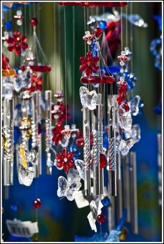 Red white blue windchime