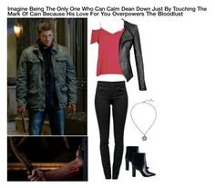 """Imagine Being The Only One Who Can Calm Dean Down Just By Touching The Mark Of Cain Because His Love For You Overpowers The Bloodlust"" by alyssaclair-winchester ❤ liked on Polyvore"