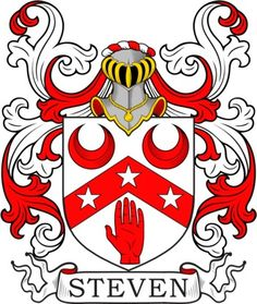 Steven Family Crest and Coat of Arms