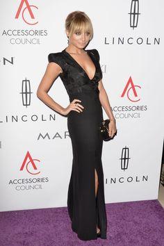 Nicole Richie's plunging Antonio Berardi gown