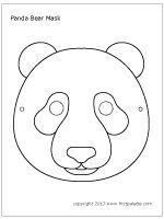 Panda mask coloring sheet