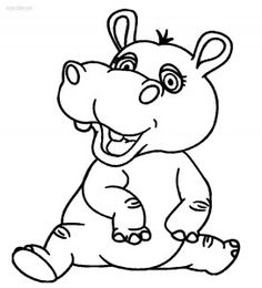 Download or print fatty hippopotamus dot to dot printable for Baby hippo coloring pages