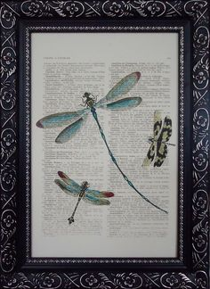 I want to try painting dragonflies on glass.