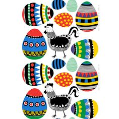 ed cotton fabric KULKUE by Marimekko design Maija or Poster - Find more Prints in the Nudepicstar shop. Textures Patterns, Print Patterns, Black And White Chickens, Marimekko Fabric, Egg Designs, Egg Decorating, Easter Crafts, Easter Ideas, Textile Design