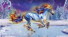 Bella Sara Winter Festival Horse - Frostfire
