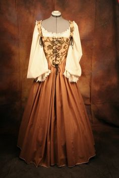 Renaissance Wench Bodice Corset Gown Dress by thewencheswardrobe Renaissance Pirate Costume, Renaissance Clothing, Renaissance Fashion, Moda Medieval, Medieval Dress, Costume Dress, Gown Dress, Dress Up, 15th Century Fashion