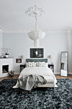 46 Modern And Minimalist Bedroom Design Ideas - About-Ruth Neutral Bedroom Decor, Romantic Bedroom Decor, Stylish Bedroom, Home Decor Bedroom, Bedroom Ideas, Home Design, Home Interior Design, Design Ideas, Modern Minimalist Bedroom