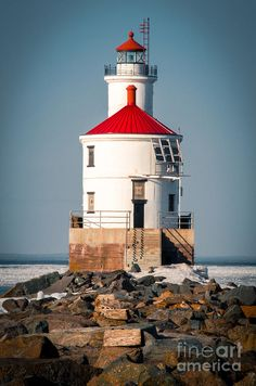 ✯ Wisconsin Point Lighthouse - Superior, Wisconsin (It doesn't look in this good of shape anymore, and I hear it's going up for sale.)