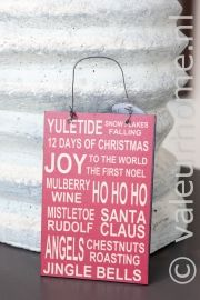 Tekst Schildje Joy | Kerst 2013 | Valeur Home Decoration