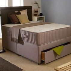 Divan Beds With Mattresses From Pillow Top Mattress, Mattress Mattress, Latex Mattress, Leather Bed Frame, Divan Sets, Cheap Mattress, Queen Memory Foam Mattress, Bedding Sets, Mattresses