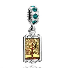Pugster May Birthstone Emerald Green Swarovski Crystal Dangle The Tree Of  Life Painting Photo Silver Plated Bead Fits Pandora Charms Chamilia Biagi  Bracelet ... 9cf002a35c70a
