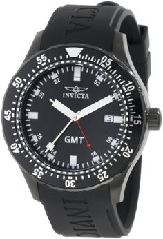Invicta Men's 11258 Specialty GMT Black Polyurethane Watch * Find out more about the great product at the image link.