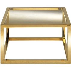Zanaboni Coffee Table in Brass (88,155 THB) ❤ liked on Polyvore featuring home, furniture, tables, accent tables, gold, brass furniture, square coffee table, square brass coffee table, square table and square coffe tables