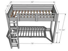 Building a Loft Bed Plan Design