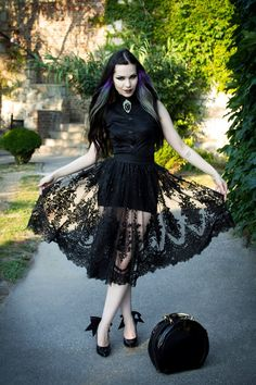 Milena Grbovic. I like this dress with the pretty lace skirt.
