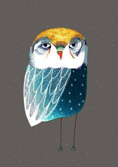 Kids Room Art, Art Wall Kids, Art For Kids, Bear Art, Owl Art, Owl Nursery, Nursery Decor, Owl Illustration, Art For Art Sake