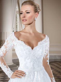 Vestidos de noiva - Coleção Callas (5) Detalhe frente completo