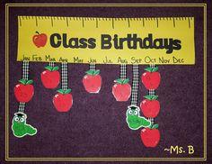 new ideas birthday board classroom toddler children Apple Bulletin Boards, September Bulletin Boards, Birthday Bulletin Boards, Classroom Bulletin Boards, Preschool Birthday Board, Classroom Birthday, Birthday Wall, Birthday Ideas, Birthday Recipes
