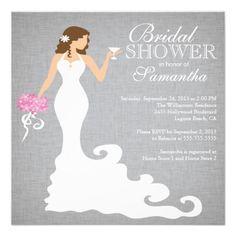 Modern Bridal Shower Invitations #wedding #weddingitems1