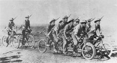 the Brits developed this interesting piece of gear known as the War Cycle, used on railway lines                        http://martinsj2.wordpress.com/2013/11/14/military-bicycles/