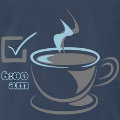 Kaffee CHECK für Frühaufsteher Shirt Designs, Random Stuff, Pouch, Coffee, Textiles, Taschen