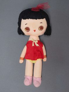 Vintage 1960's Big Eyes Cloth Doll.  I have this one already, otherwise I would buy it!