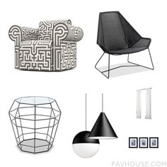 House Recipes With Moooi Accent Chair High-Back Chair Accent Table And String Light From August 2016 #home #decor